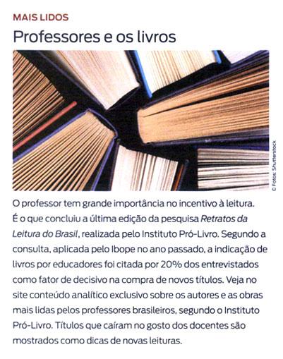 Professores e os livros