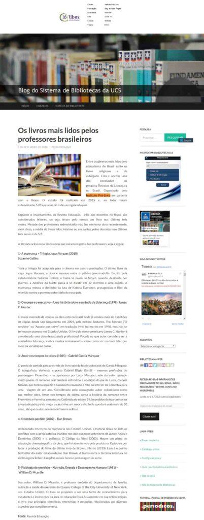 Site Biblioteca UCS 03 -09 -16