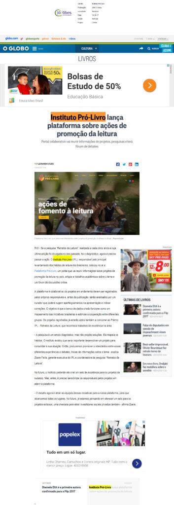 Site O Globo 10 -04 -17