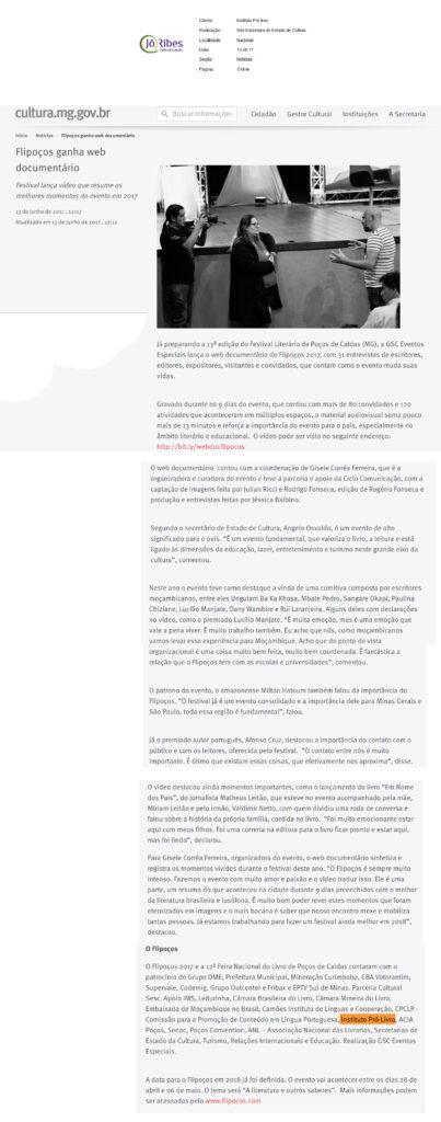 Site Secretaria de Estado de Cultura 13 - 06 - 17