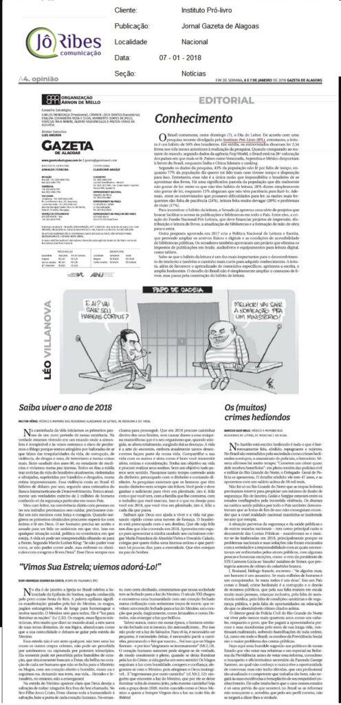Jornal Gazeta de Alagoas 08-01-2018