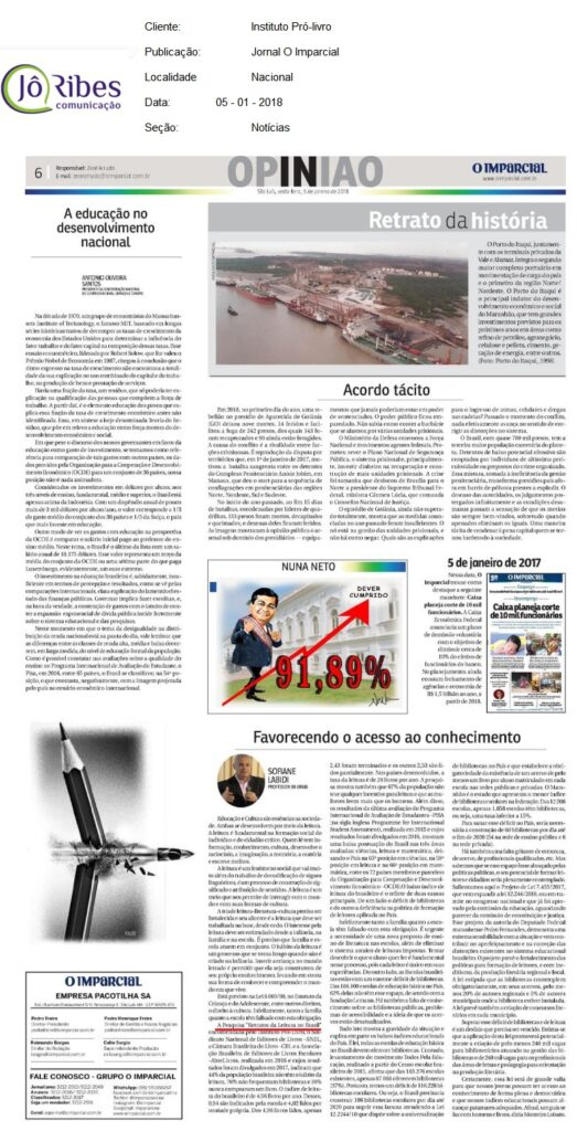 Jornal O Imparcial 05-01-2018